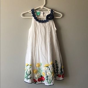 Embroidered girls dress